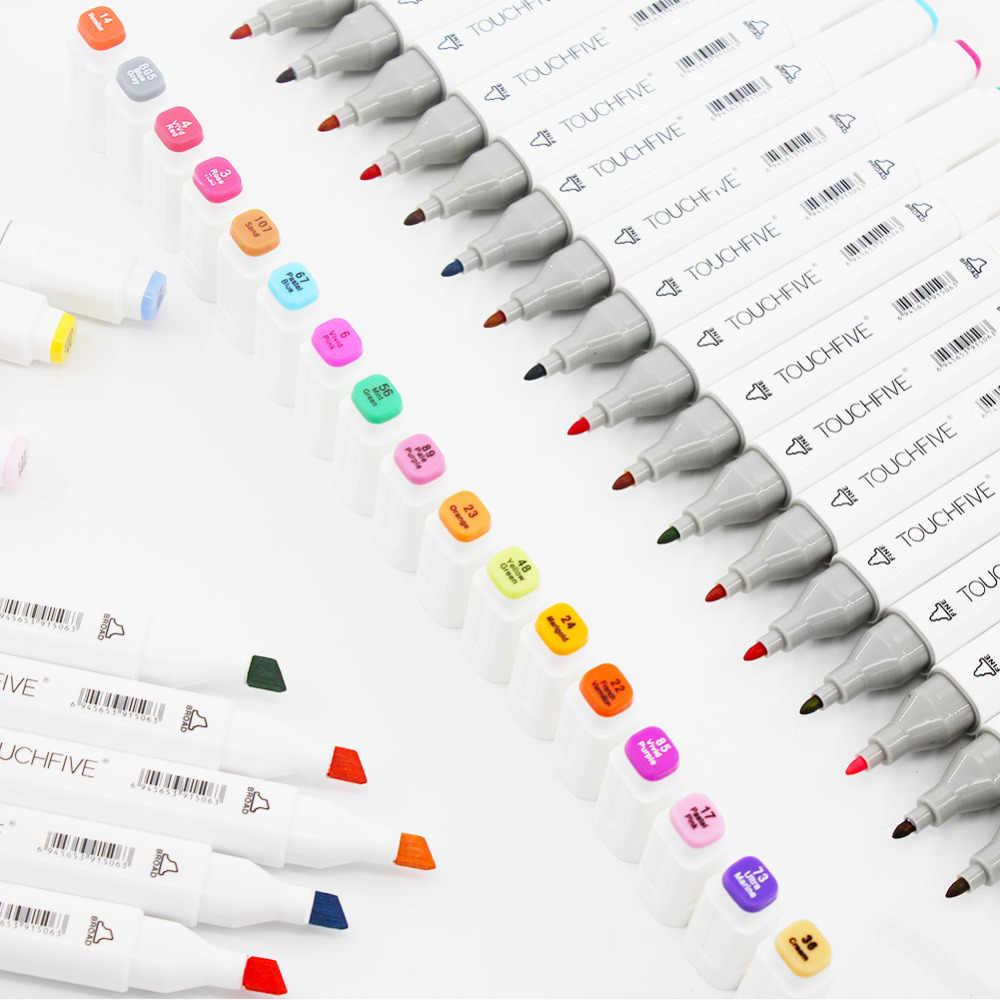 TouchFive маркеры 48/80/168 Цвет эскизный карандаш маркер ручка Двойные наконечники алкогольные ручек для художника маркеры манги товары для рукоделия школы