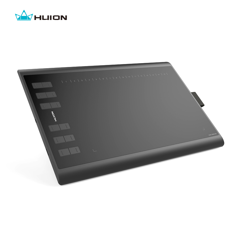 Huion Baru 1060 Ditambah 8192 Tingkat Tablet Digital Grafis Gambar Tablet Animasi Papan Gambar Pena Tablet