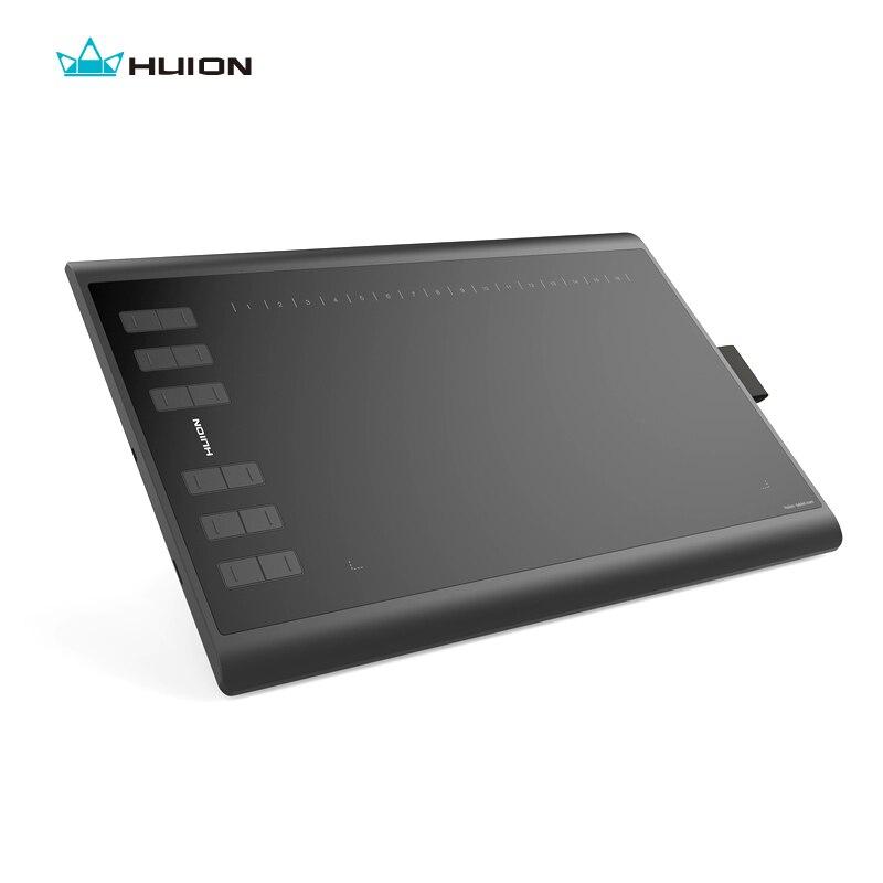 Huion novo 1060 plus 8192 níveis digital tablet gráficos desenho comprimidos animação desenho placa caneta tablet