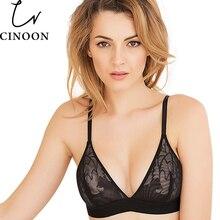 Women sexy underwear bra embroidery lingerie set thin lace bra transparent ultra-thin temptation push up bra set