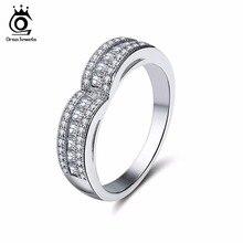 ORSA JEWELS Luxury Women Rings Pave Setting Heart Shape AAA Cubic Zircon