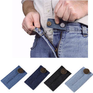 Pants 1 Pack Elastic Waist Extender for Jeans Strong Adjustable Pants Button Easy Fit Waistband Belt Elastic Waist Extender#L3$