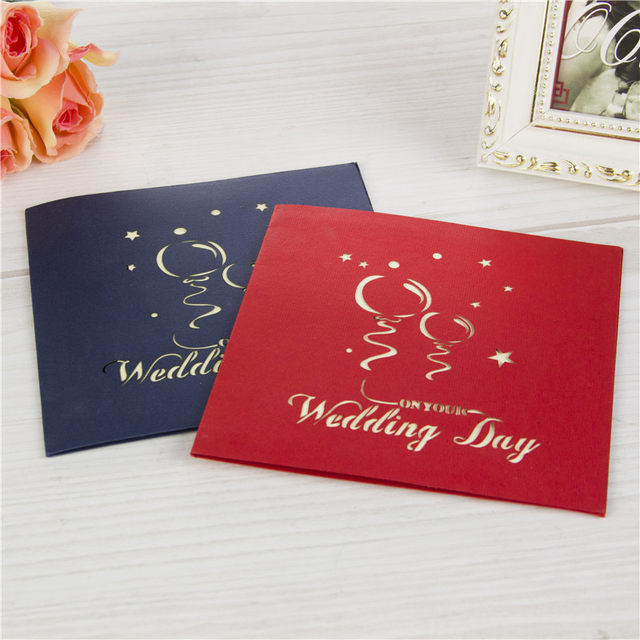 Online shop weeding with lover 3d pop up greeting cards valentines weeding with lover 3d pop up greeting cards valentines day handmade laser cutting card m4hsunfo