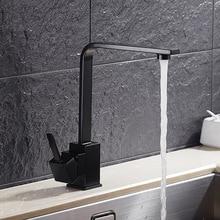 360 Swivel Sink Mixer Tap Kitchen Taps Water Tap Kitchen Faucet Black Hot and Cold Water Torneira De Cozinha Grifo Cocina
