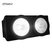 лучшая цена 2pcs/lot LED 200W COB Par Light 2eyes RGBWAUV 6in1 no noisy DMX 512 Lighting for Professional Large Stage Theater Spectator Seat