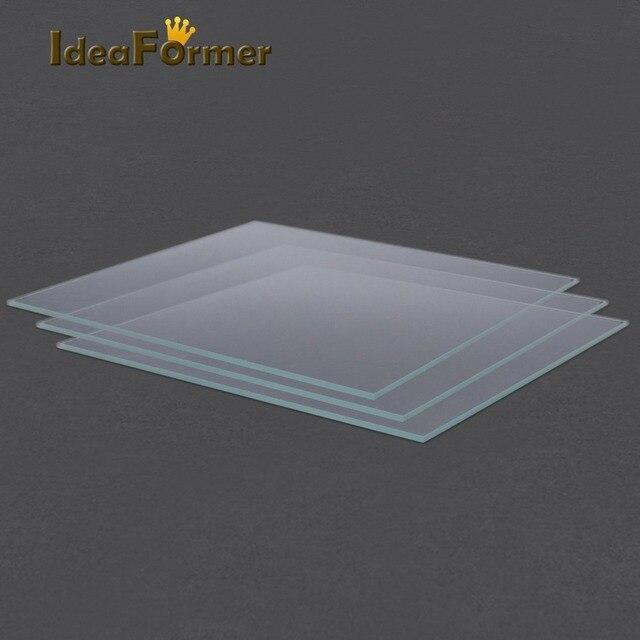 3D Printer Accessories Reprap MK2 Heated Bed Borosilicate Glass Plate tempered 1 pcs 3D Printer parts glass in good quality 3