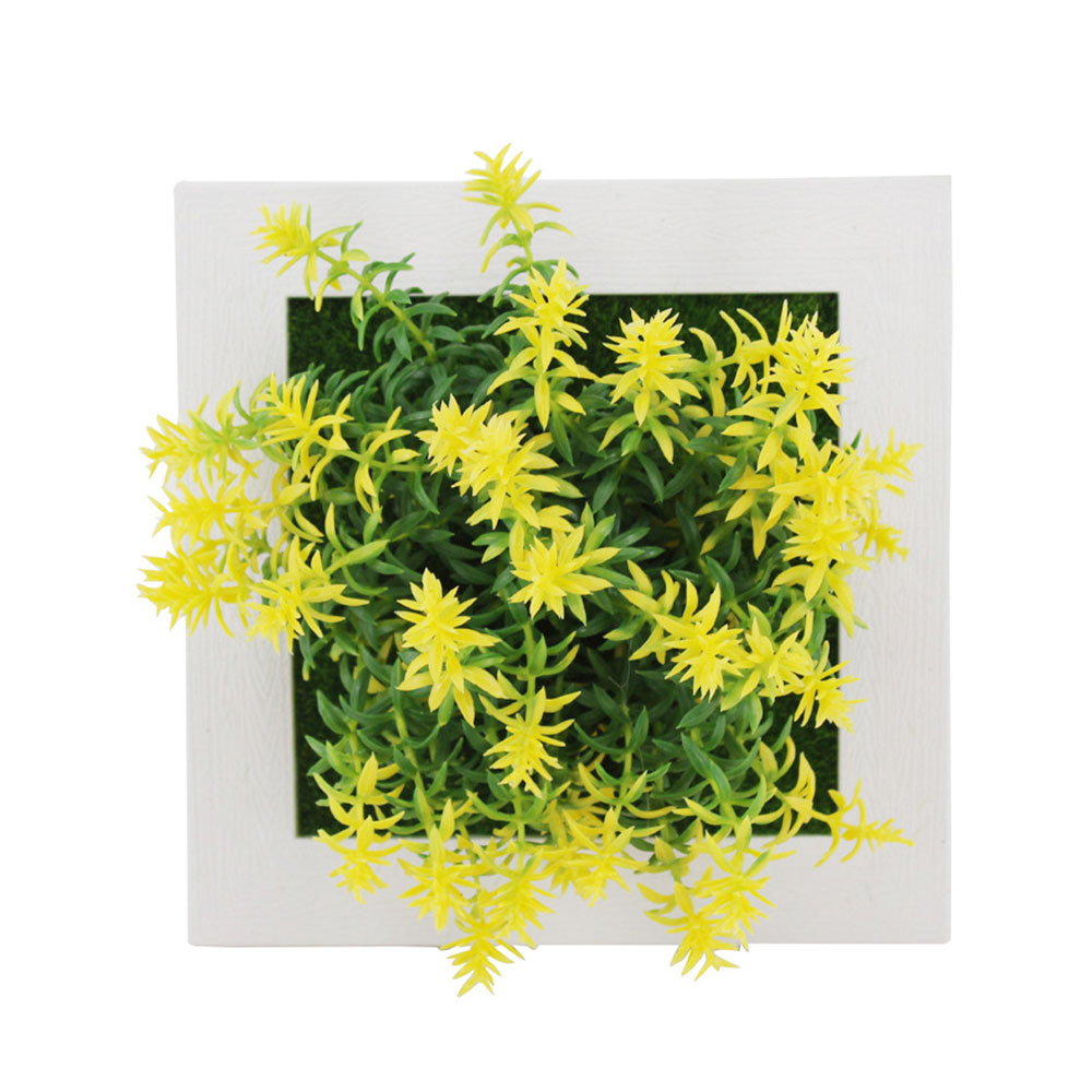 Пластиковая рамка для фотографий растений суккулентные растения орнамент креативная эмуляция настенный искусственный свадебный цветок рамка - Цвет: 17A