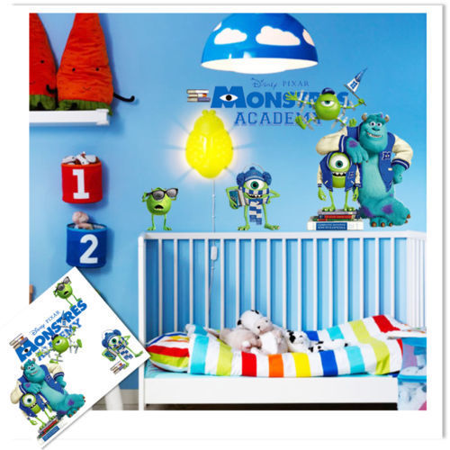 Full Colour Monsters Inc University Wall Art Sticker Decal Graphic