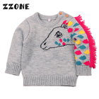 6M-24M Baby Girls/Boys Cute Horse Pattern Winter Knitted Clothes Boys/Girls O-Neck Pullovers Sweaters Newborn Kids Jumper,DC357