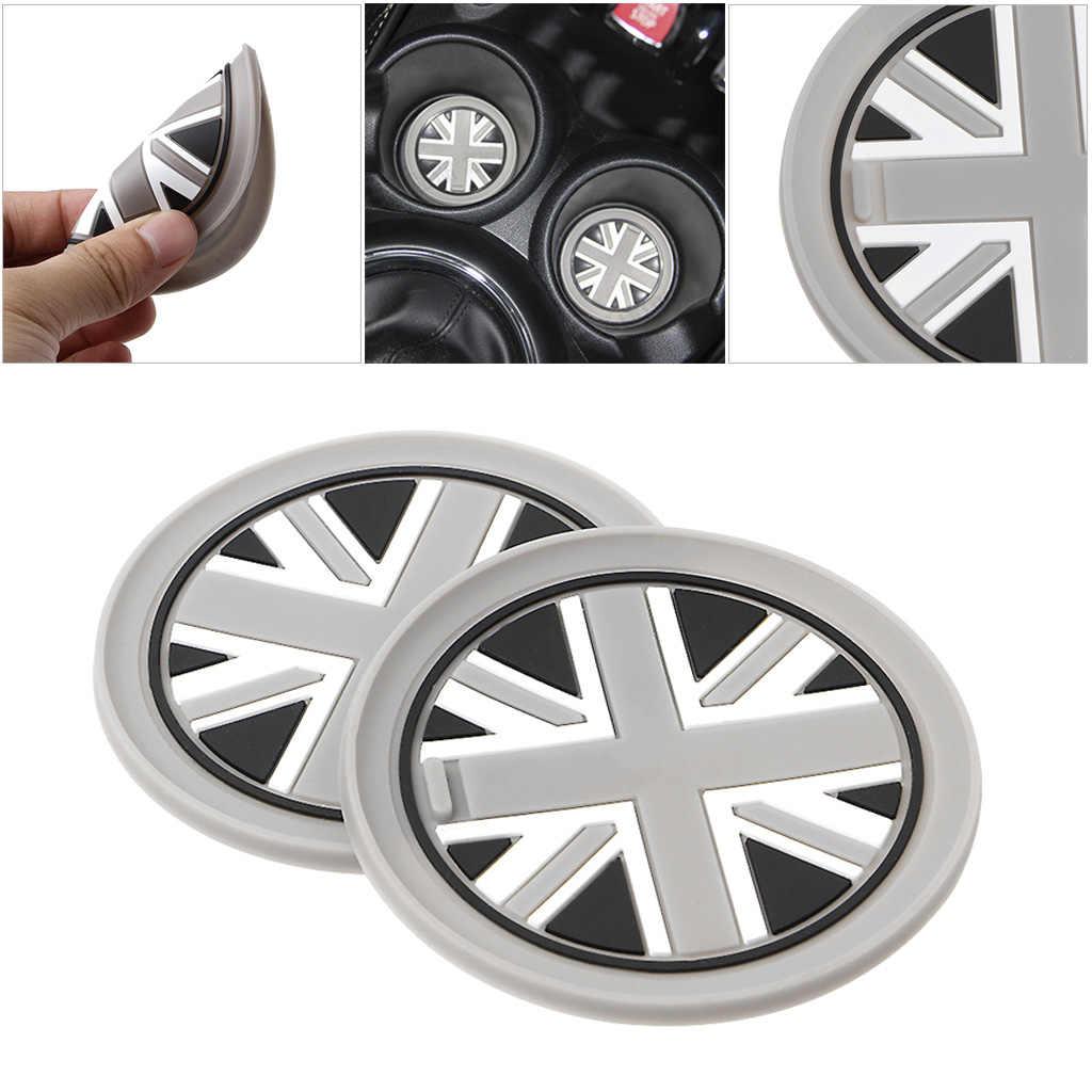 7.7 milímetros de Sílica Gel Copo Do Carro Anti-slip Pad Mat Para BMW Mini Cooper 2011 2012 2013 R55 R56