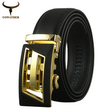 COWATHER 2016 luxury men belts for men automatic alloy buckle better gifts business choice top quality nice hot free shipping