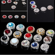 3d nail art 100pcs Glitter glass gems Alloy jewelry luck strass decorations DIY top quality charm supplier