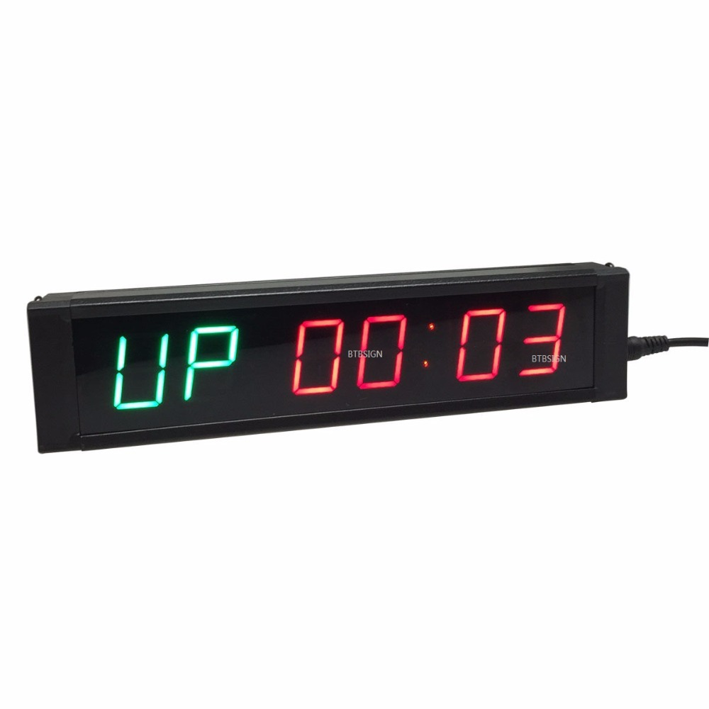 GANXIN] battery powered led gym crossfit interval timer clock with ...