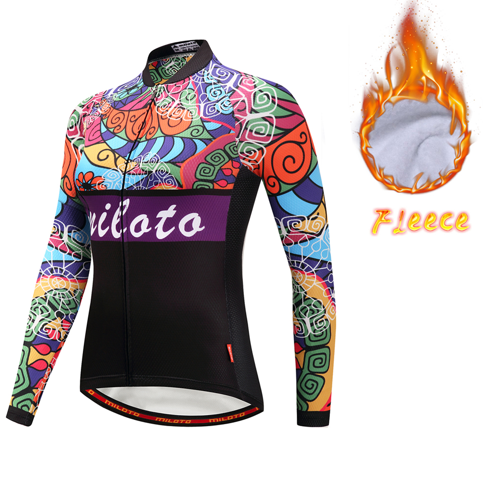 Uriah Long Sleeve Fleece Cycling Jersey Winter Women's Road Bike Clothing Ladies Cycling Jerseys Thermal MILOTO bxio brand winter thermal fleece bicycle jerseys 5d gel pad bike clothes warm long sleeves cycling clothing maillot ciclismo 114