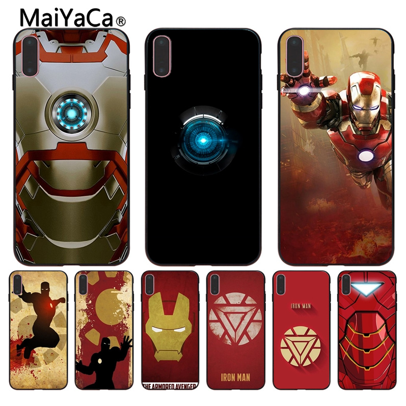 MaiYaCa For iPhone 8 X Iron Man wallpaper Rubber Black Soft Phone Case For iPhone X 6 6S 7 7plus 5 5S Mobile phone shell image