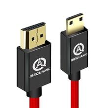 High Speed Mini Hdmi Naar Hdmi Kabel 1M 2M 3M Man Op Man 1.4V 1080P Voor Tablet Camcorder MP4 Mini Hdmi Kabel