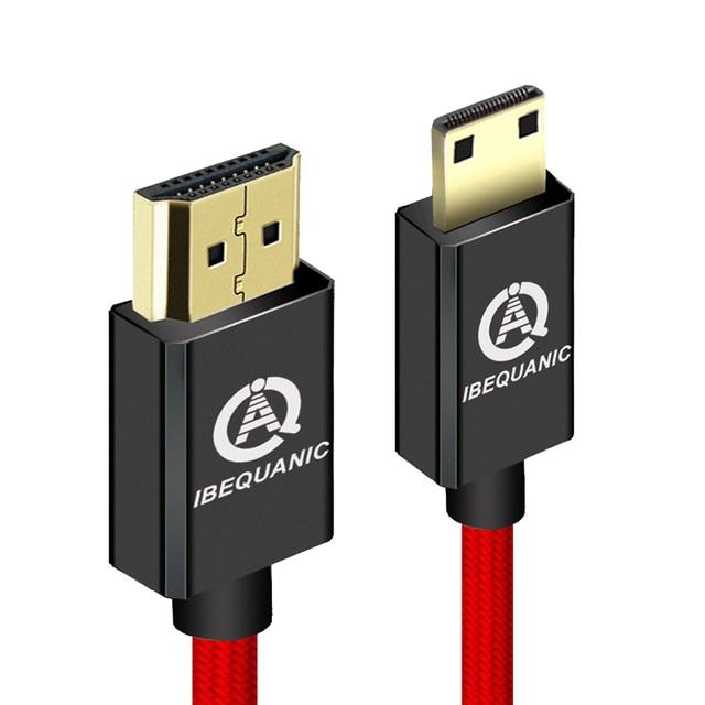 Mini câble HDMI vers HDMI haute vitesse 1m 2m 3m mâle vers mâle 1.4V 1080P pour caméscope MP4 Mini câble HDMI