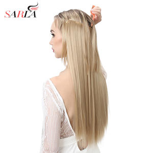 "Hair Extension Wire Halo Invisible Ombre Straight 22"" 130g Hidden Secret Crown Flip False"
