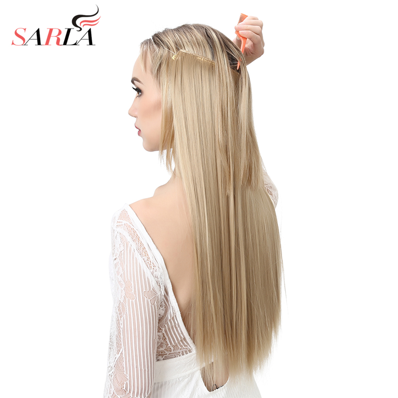 Hair Extension Wire Halo Invisible Ombre Straight 22 130g Hidden Secret Crown Flip False Synthetic Hair Pieces For Women M02