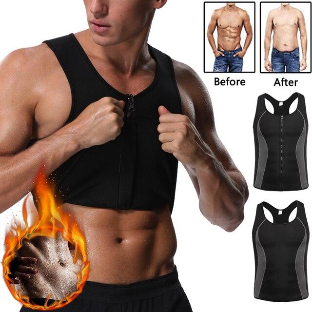 90fe413ca7a Miss Moly Neoprene Body Shaper Promote Sweat Zipper Vest Waist Trainer  Slimming Thermo Shapewear Mes Modeling Top
