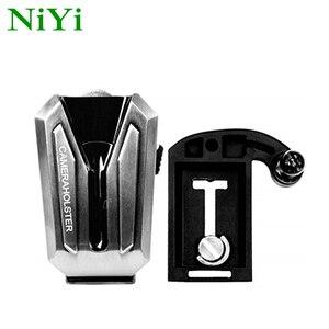 Image 1 - NiYi UK A8S Kamera Gürtel Clip Holster DSLR Kamera Taille Gürtel Schnalle Taste für DSLR kameras Canon Nikon Sony oder Zubehör