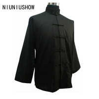 Black New Spring Traditional Chinese Clothing Men S Linen Jacket Coat With Pocket Size S M