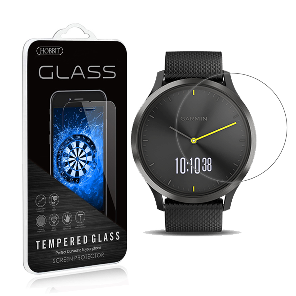 For Garmin Vivomove HR 0.3mm 2.5D Clear Screen Protector Tempered Glass Screen Protector Smartwatch Anti Scratch Film