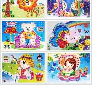 Image 5 - 20 יח\חבילה צעצועים לילדים פסיפס יהלומים מדבקות פאזל גליטר Eva AR צעצועי ילדים מתנות 12.5x17cm משלוח חינם
