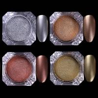1 Box BORN PRETTY Chocolate Matte Glitter Powder 2g Nail Dust 4 Colors Manicure Nail Art Glitter Powder Decorations