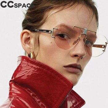 Retro Steampunk Sunglasses Men Women Rimless Metal Frame Fashion Shades UV400 Vintage Glasses Oculos 46435