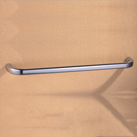 Polished Chrome Bathroom Single Towel Rail With Brass 60cm Bathroom Accessories Wall Mounted Towel Bars