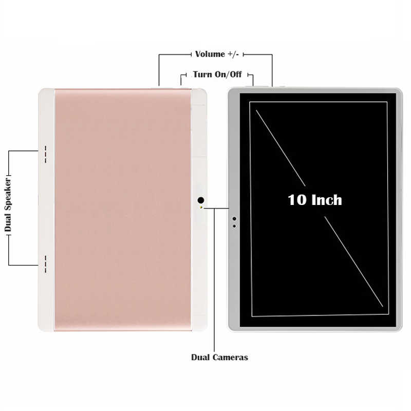 2018 lastest 10 inch tablet pc 3G Phone Call Android 7.0 1280X800 IPS Touch Screen Wifi Tablets 10.1 +Tempered Protective Film