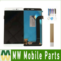 1 pc/lote Para Coolpad E570 Display LCD + Touch Screen Digitador Assembléia Branco Preto Cor de Ouro com fita & ferramentas