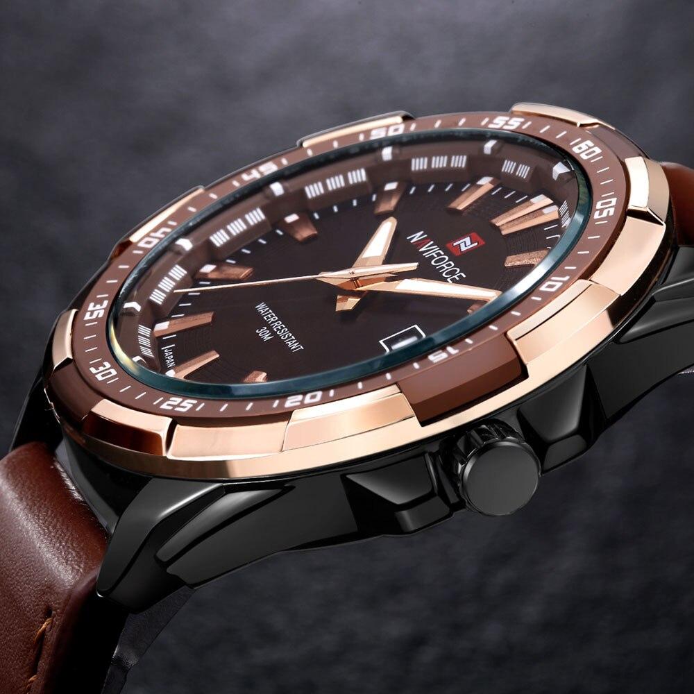 e98b905f4c3ad4 NAVIFORCE Célèbre Relogio Militar Hommes Montres Militaires Sport Hommes de Quartz  Étanche Horloge Homme Bracelet En Cuir Casual Montre-Bracelet