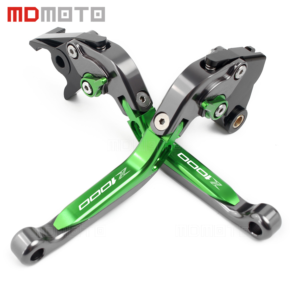 For Kawasaki Z1000SX NINJA 1000 Toure 2011-2016 2018 Z1000 Z1000R Z 1000 R 2007-2015 2017 CNC Motorcycle Clutch Brake Lever Set mtkracing cnc short adjusterable brake clutch lever for kawasaki zx6r 636 zx10r z1000sx ninja 1000 tourer z1000 z750r