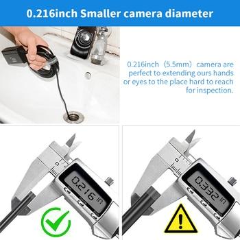5.5mm Telescoping Wifi Endoscope Camera 1080P HD Semi-Rigid Snake Camera USB Endoscope Borescope IOS Endoscope For Iphone Tablet 1