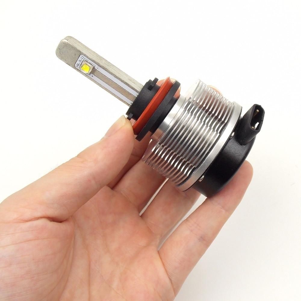 Высококачественная автомобильная светодиодная лампа для фары конверсионный комплект H8/H9/H11 12 V 24 V 6000K 2400LM 20W автоматический головной светильник (пара) - 2