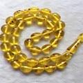 Transparente 12 MM * 14 MM 33 Perlas de Imitación Kehribar Tesbih Ámbar Granos de Rezo Musulmanes Envío Libre