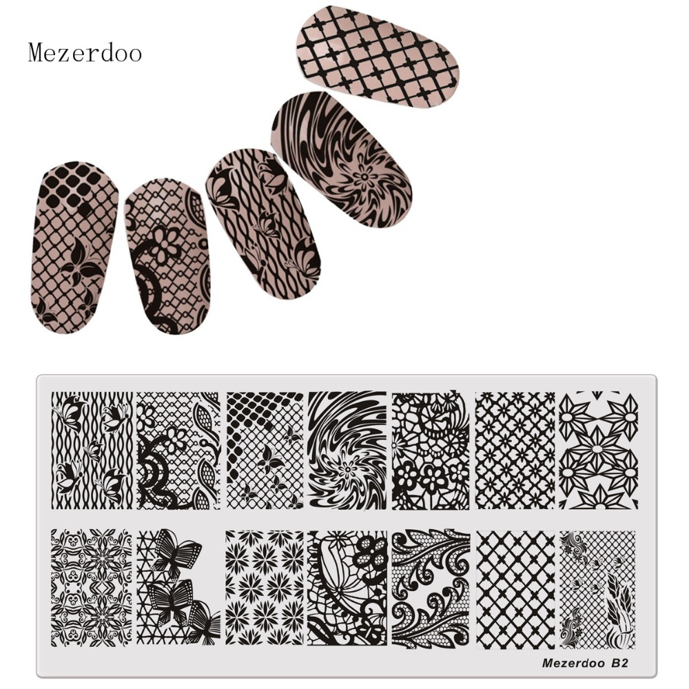 Schmetterling Grid Nagel Platten Nail art Stamping Schablone ...