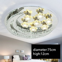IWHD Living Room LED Lamp Modern Ceiling Light Fixtures Living Room Bedroom Lampara Techo Stainless Steel