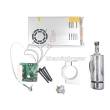 CNC 400W Spindle Motor + Mach3 PWM Speed Controller + Mount + Power Supply for Engraving Machine