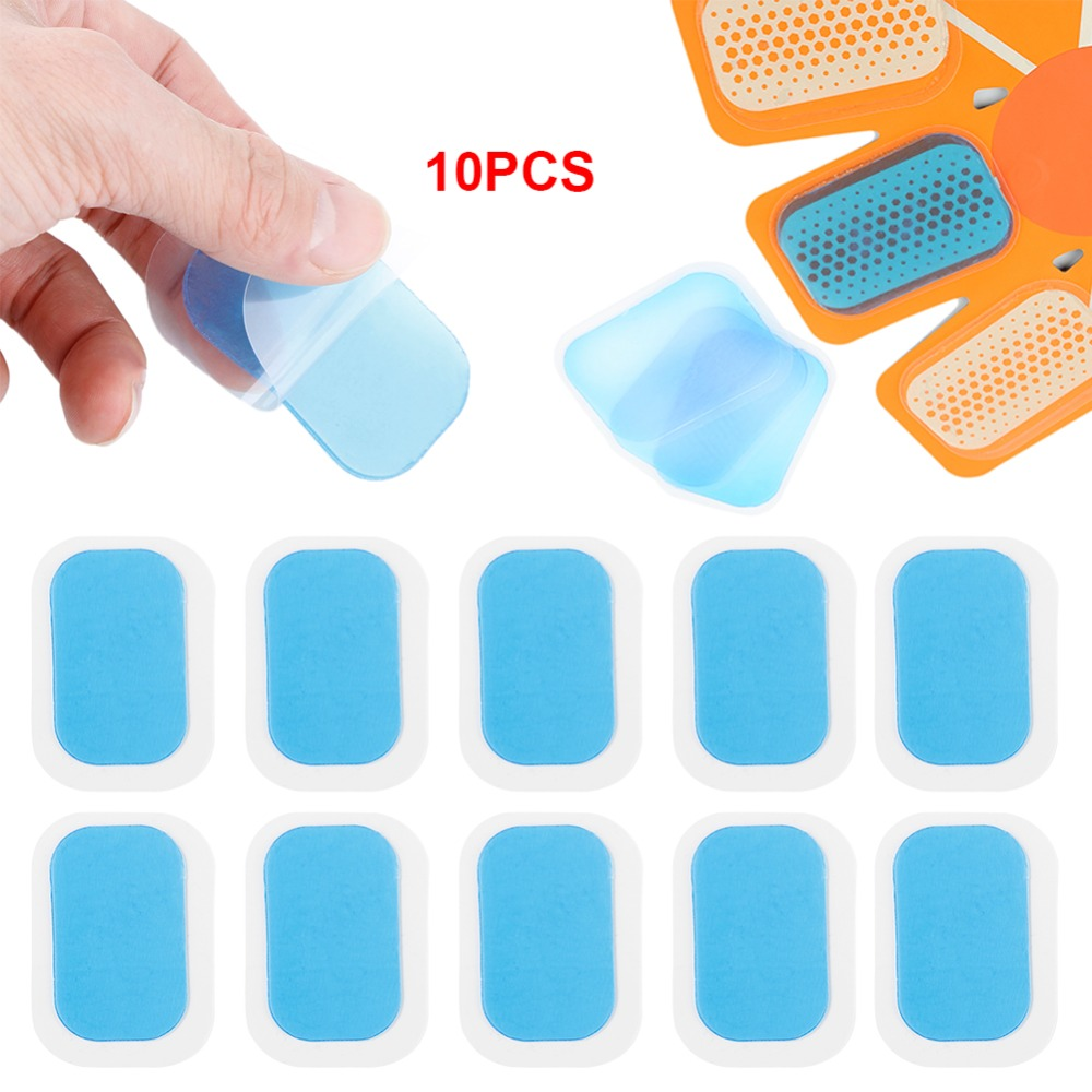 10pcs Replecament Gel Stickers Patch Pads Silicone Hydrogel Mat For Wireless Smart EMS Abdominal Muscles Training Body Massager