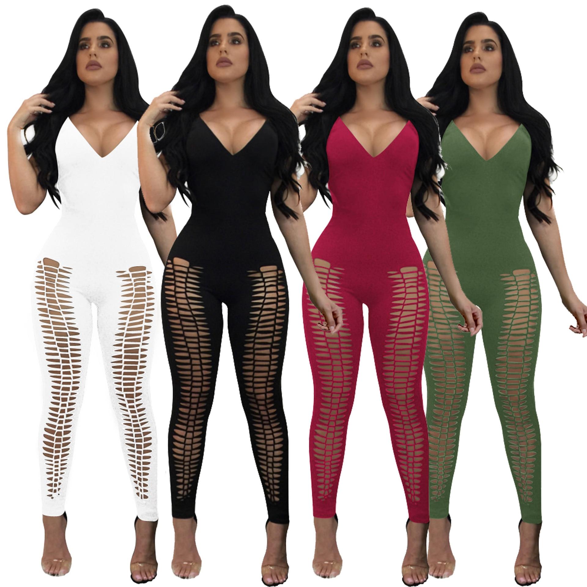 2018 fashion style women plus size long jumpsuit