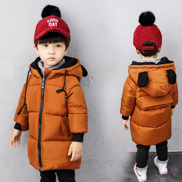 Nuevo invierno cálido niños Parkas caramelo niños abrigos con capucha niños  abrigos de invierno nieve ropa fe866e1cfdb9