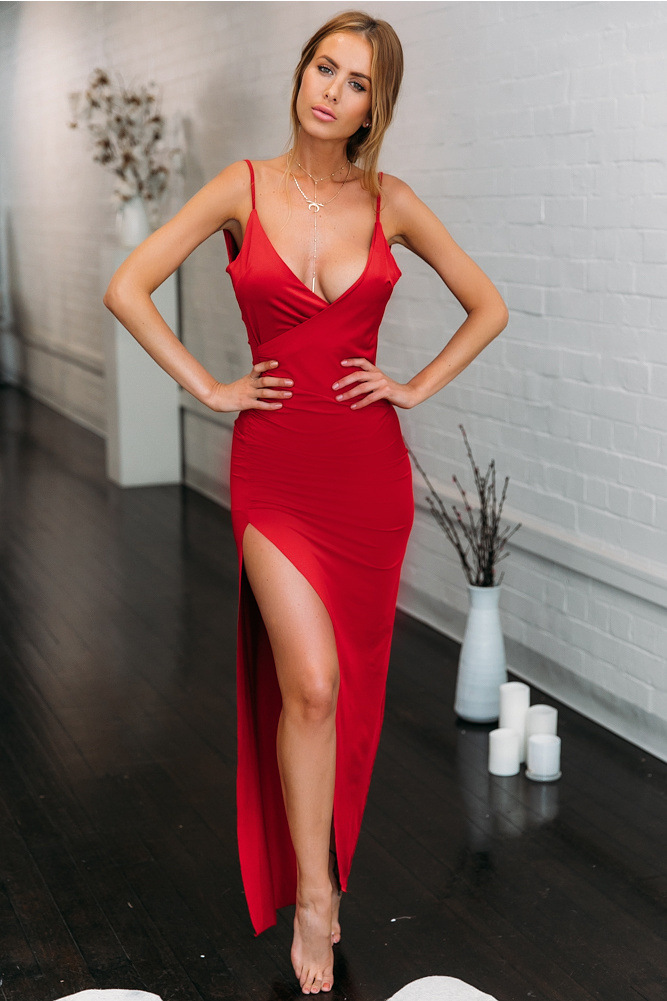 Dulitina Sexy Party Dresses Red Short Club Prom Cocktail Evening