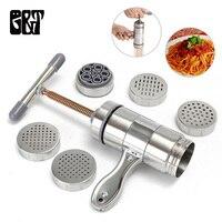 GT нержавеющая сталь ручная паста машина лапша чайник с 2/5 пресс-форма Паста спагетти пресс машина лапша машина