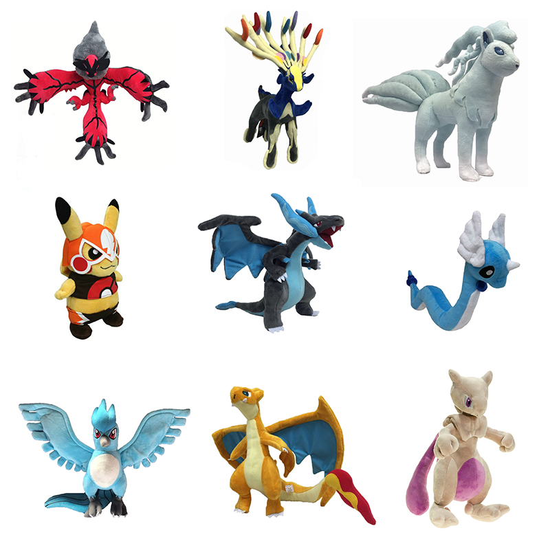 Anime Kawaii Cartoon XY Eevee Charizard Ninetales Articuno Mewtwo Plush Soft Stuffed Doll Toys For Children Baby Kids Gift