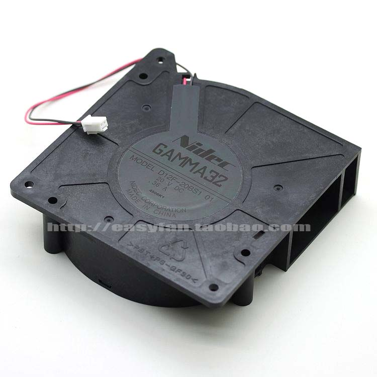 Nidec D12F-20BS1 01 DC 20V 0.36A 120X120X32mm Server Square fan nidec d12f 24bs4 16bh2 dc 24v 0 70a 120x120x32mm server square fan
