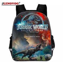 Kids Jurassic World School Bag Children Teenagers 13 16 18 inch Dinosaurs Schoolbag New Backpack with Reflective Strap
