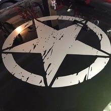 """새로운 육군 스타 고민 된 데칼 대형 16 """"약 비닐 군사 후드 그래픽 바디 40CM 스티커 지프 패션 쿨 #274981 적합"""